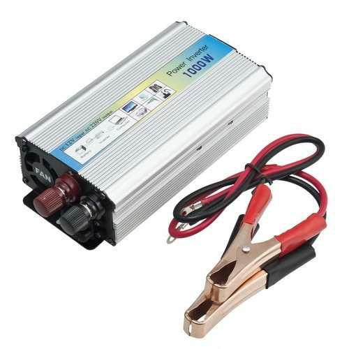 Adaptador inversor corriente p auto de 12v a 220v usb 1000w s 330