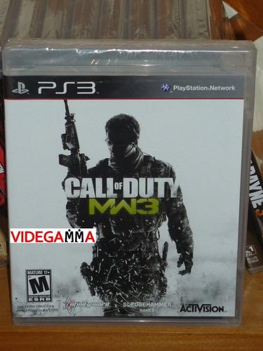 call of duty: modern warfare 3 - ps3 - nuevo y sellado
