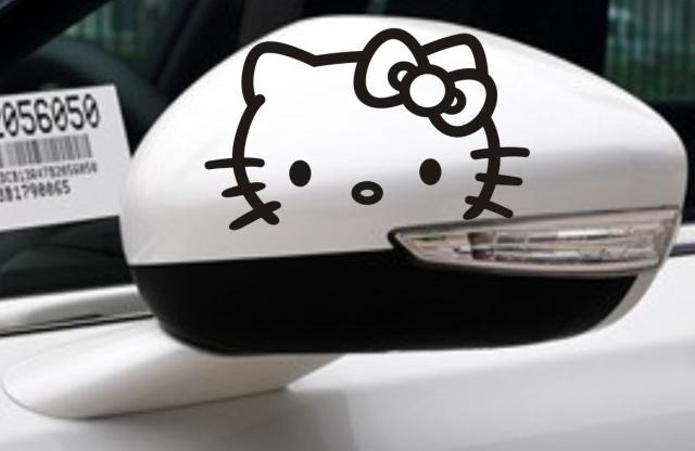 Stickers hello kitty para pegar en tus espejos s 20 for Espejos pequenos para pegar