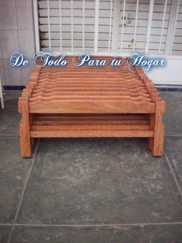 Tarima 2 plazas madera tornillo desarmable bandas selectas for Precio tarima madera