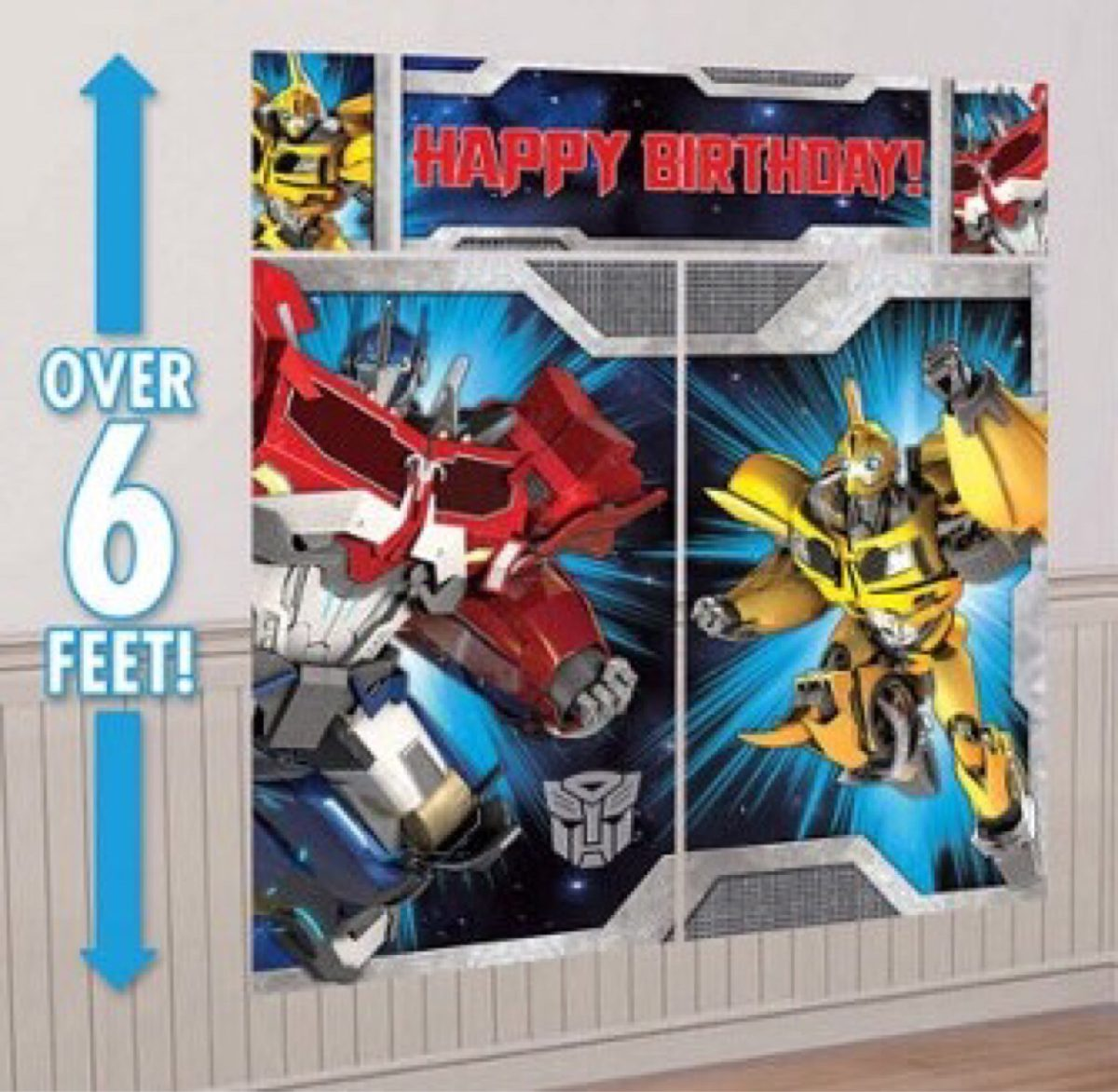 Transformers Decoracion Para Pared De Fiestas Infantiles ...